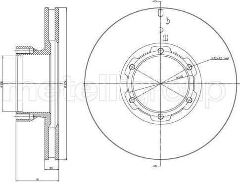 Metelli 23-1714 - Bremžu diski interparts.lv