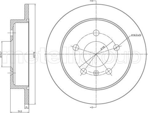 Metelli 23-1716C - Bremžu diski interparts.lv