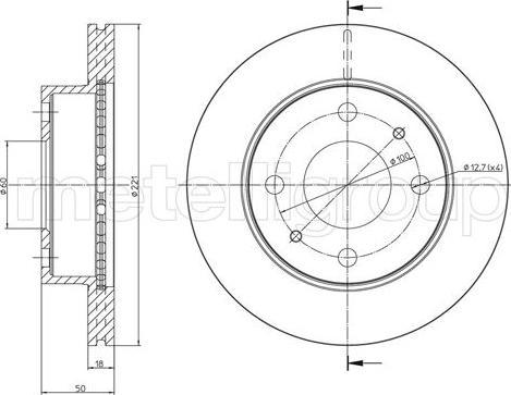 Metelli 23-1717C - Bremžu diski interparts.lv