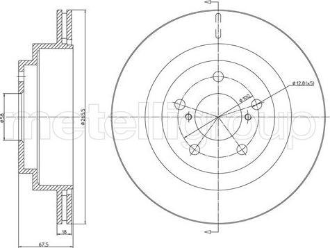 Metelli 23-1739C - Bremžu diski interparts.lv