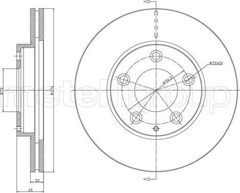 Metelli 23-1737C - Bremžu diski interparts.lv