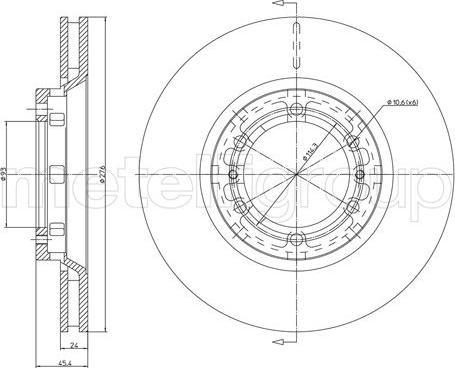 Metelli 23-1722C - Bremžu diski interparts.lv