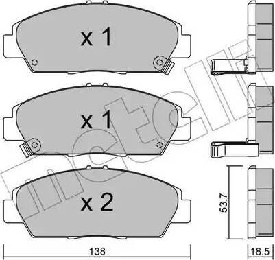 Metelli 22-0172-0 - Bremžu uzliku kompl., Disku bremzes interparts.lv