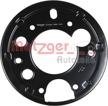 Metzger 6115185 - Dubļu sargs, Bremžu disks interparts.lv