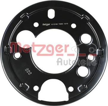Metzger 6115186 - Dubļu sargs, Bremžu disks interparts.lv