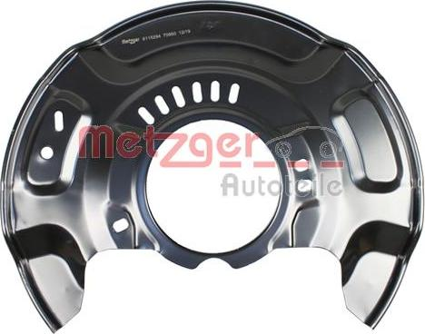 Metzger 6115294 - Dubļu sargs, Bremžu disks interparts.lv