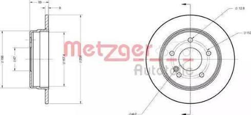 Metzger 6110558 - Bremžu diski interparts.lv