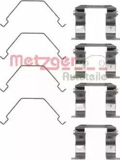 Metzger 109-1158 - Piederumu komplekts, Disku bremžu uzlikas interparts.lv