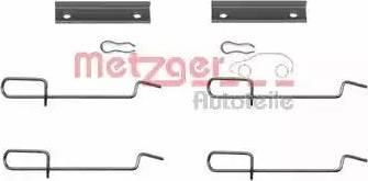 Metzger 109-1125 - Piederumu komplekts, Disku bremžu uzlikas interparts.lv