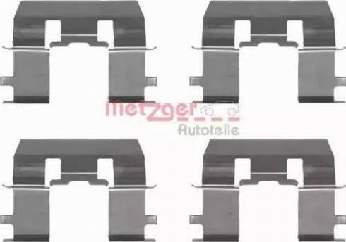 Metzger 109-1281 - Piederumu komplekts, Disku bremžu uzlikas interparts.lv