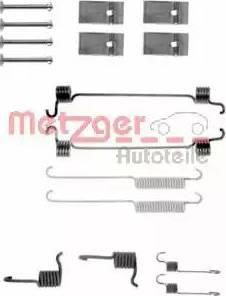 Metzger 105-0676 - Piederumu komplekts, Bremžu loki interparts.lv