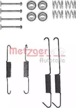 Metzger 105-0002 - Piederumu komplekts, Bremžu loki interparts.lv