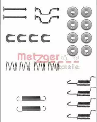 Metzger 105-0810 - Piederumu komplekts, Stāvbremzes mehānisma bremžu loks interparts.lv