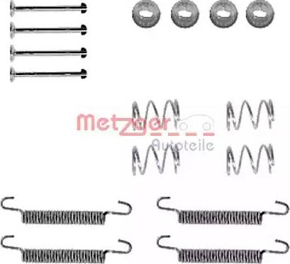 Metzger 105-0791 - Piederumu komplekts, Stāvbremzes mehānisma bremžu loks interparts.lv