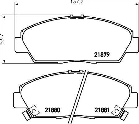 Mintex MDB1635 - Bremžu uzliku kompl., Disku bremzes interparts.lv