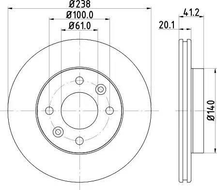 Mintex MDC956 - Bremžu diski interparts.lv