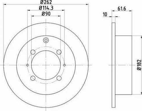 Mintex MDC951 - Bremžu diski interparts.lv