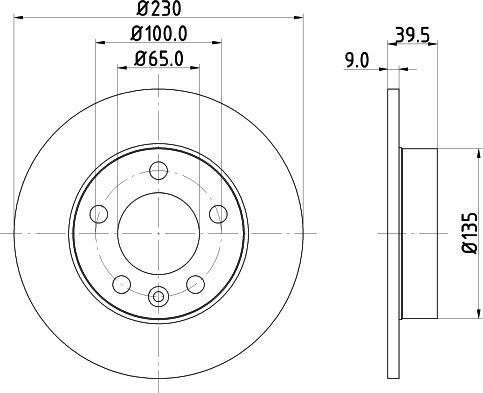 Mintex MDC980C - Bremžu diski interparts.lv