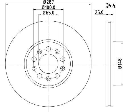 Mintex MDC979C - Bremžu diski interparts.lv