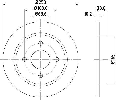 Mintex MDC442C - Bremžu diski interparts.lv