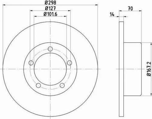 Mintex MDC436 - Bremžu diski interparts.lv