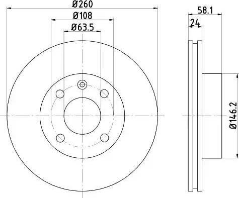 Mintex MDC438 - Bremžu diski interparts.lv