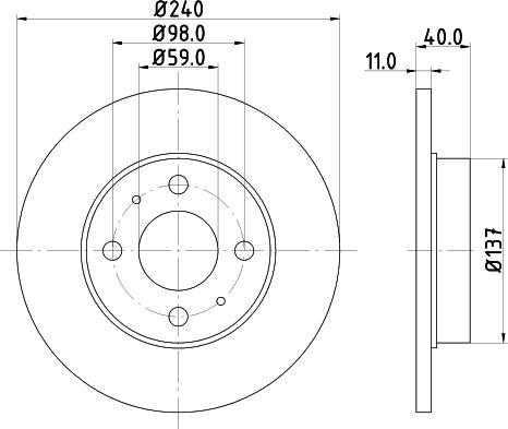 Mintex MDC592C - Bremžu diski interparts.lv