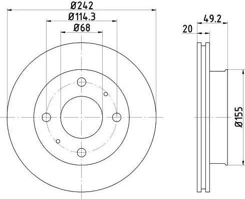 Mintex MDC583 - Bremžu diski interparts.lv