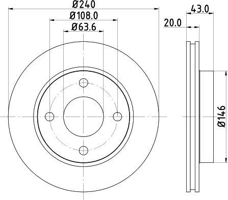 Mintex MDC579C - Bremžu diski interparts.lv