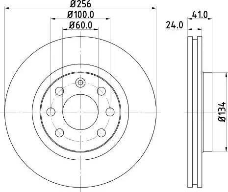 Mintex MDC692 - Bremžu diski interparts.lv