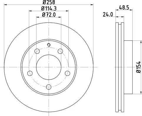 Mintex MDC666 - Bremžu diski interparts.lv