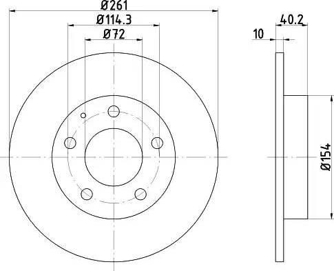 Mintex MDC667 - Bremžu diski interparts.lv
