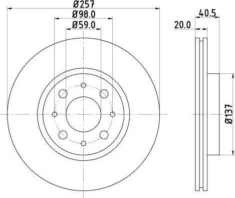 Mintex MDC615 - Bremžu diski interparts.lv