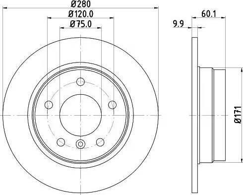 Mintex MDC623 - Bremžu diski interparts.lv