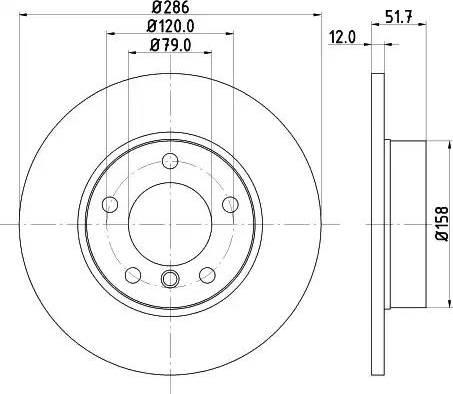 Mintex MDC622 - Bremžu diski interparts.lv