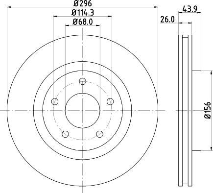 Mintex MDC1905C - Bremžu diski interparts.lv