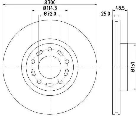 Mintex MDC1988 - Bremžu diski interparts.lv