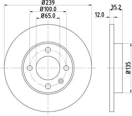 Mintex MDC198 - Bremžu diski interparts.lv