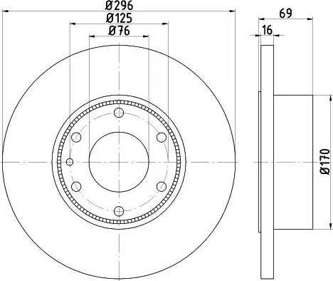 Mintex MDC1932 - Bremžu diski interparts.lv