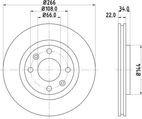 Mintex MDC1491C - Bremžu diski interparts.lv