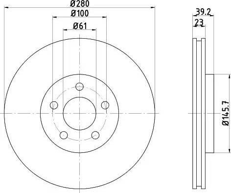 Mintex MDC1449 - Bremžu diski interparts.lv