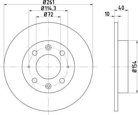 Mintex MDC1409 - Bremžu diski interparts.lv