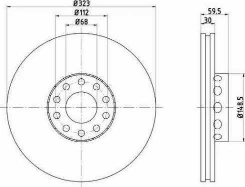 Mintex MDC1419 - Bremžu diski interparts.lv