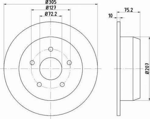 Mintex MDC1489 - Bremžu diski interparts.lv