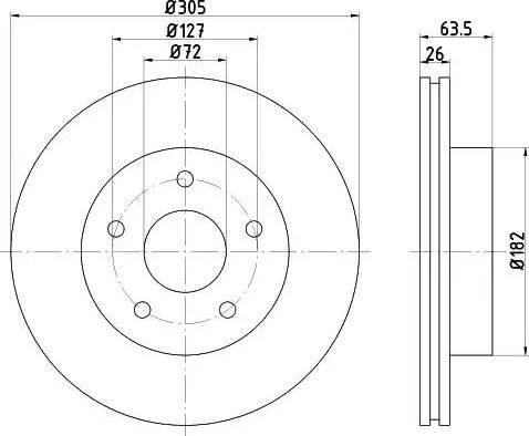 Mintex MDC1488 - Bremžu diski interparts.lv