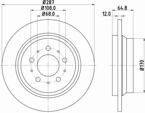 Mintex MDC1434C - Bremžu diski interparts.lv