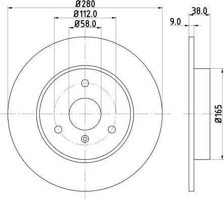 Mintex MDC1423 - Bremžu diski interparts.lv