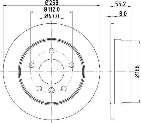 Mintex MDC1422 - Bremžu diski interparts.lv
