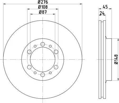 Mintex MDC1473 - Bremžu diski interparts.lv