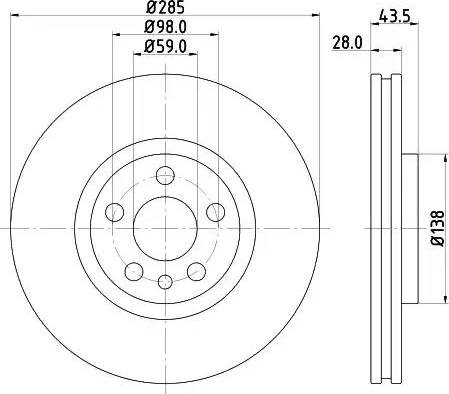 Mintex MDC1598 - Bremžu diski interparts.lv
